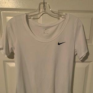 Nike white dri fit tee